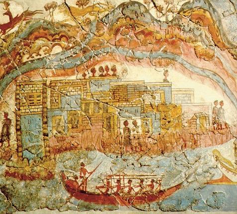 Historia de Santorini