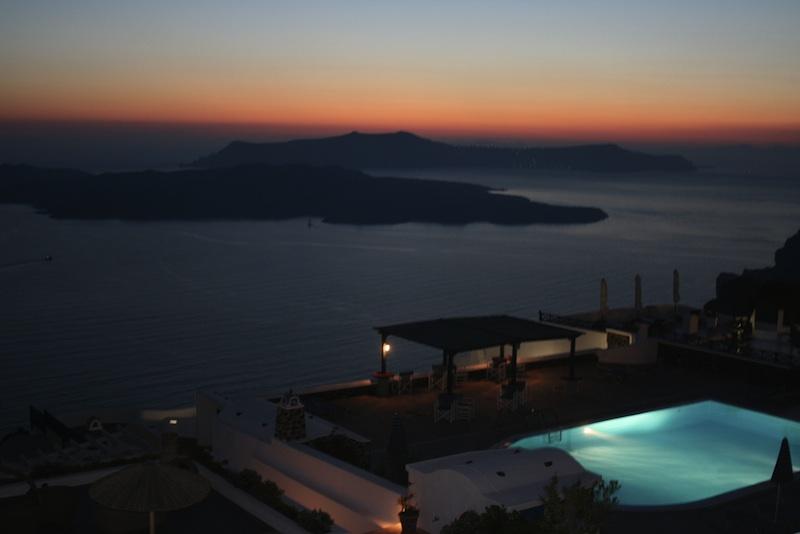 La caldera del volcán de Thera – Santorini