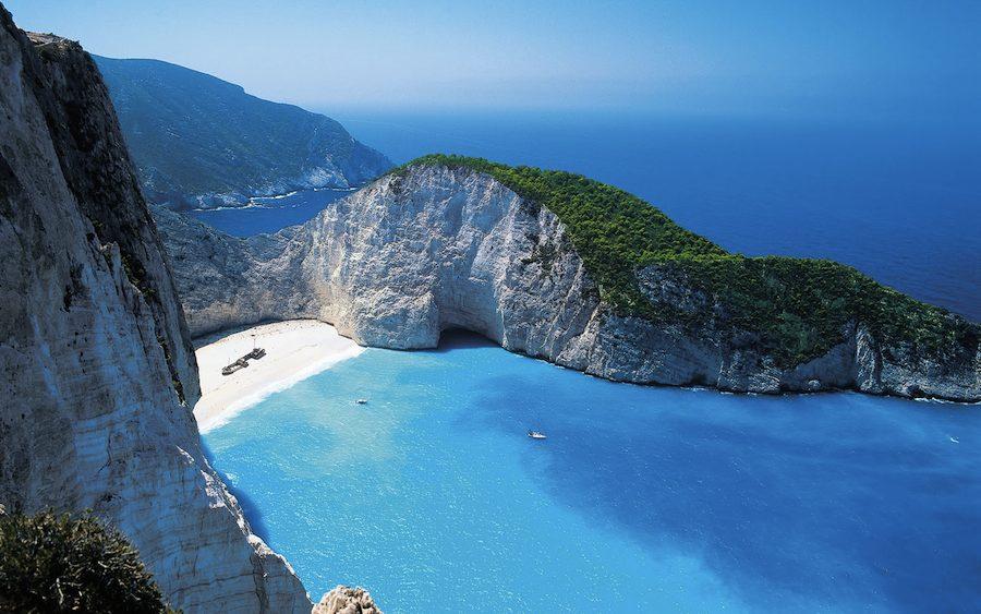 La playa del Naufragío en Zante. Las isla Jónicas son menos conocidas pero igual de espectaculares.